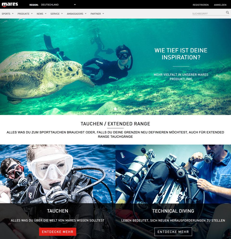 CCDS Projekte - Mares Website Frontpage